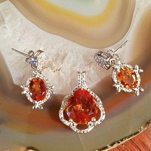 Jewelry - Pendant & earrings Azotic gem platinum silver